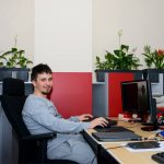 Programmer working at eJump office