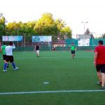 Friendly footbal match between teams