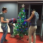 ejump Christmas party at the office.