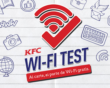 KFC wifi test app developed by ejump
