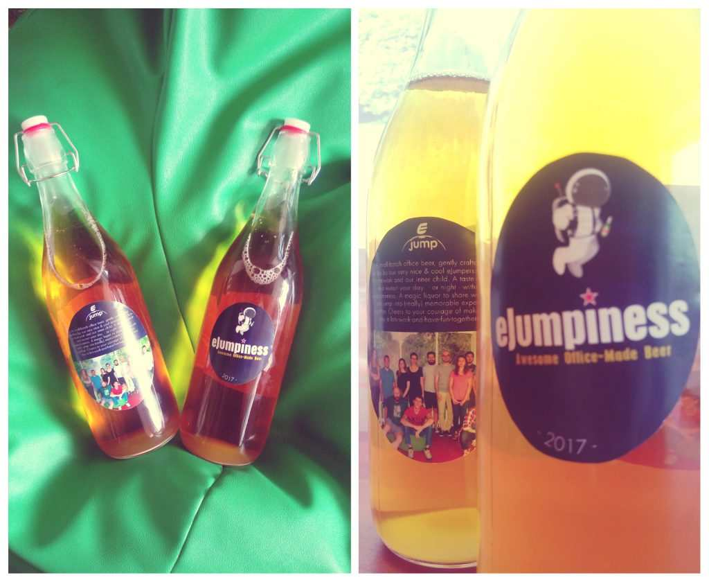 The eJumpiness beer at the eJump office!