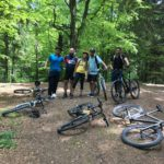 Mountain trip with bicycles during teambuilding at Rasnov