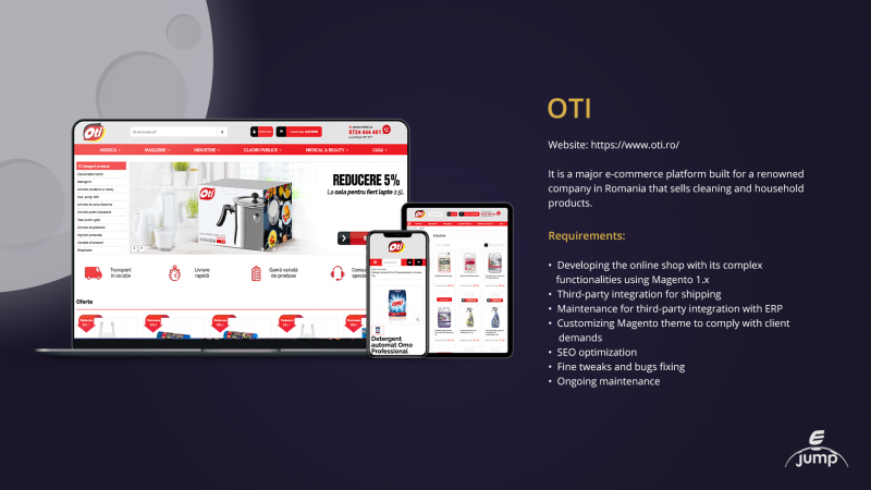 OTI MAGENTO PROJECT BY EJUMP MEDIA