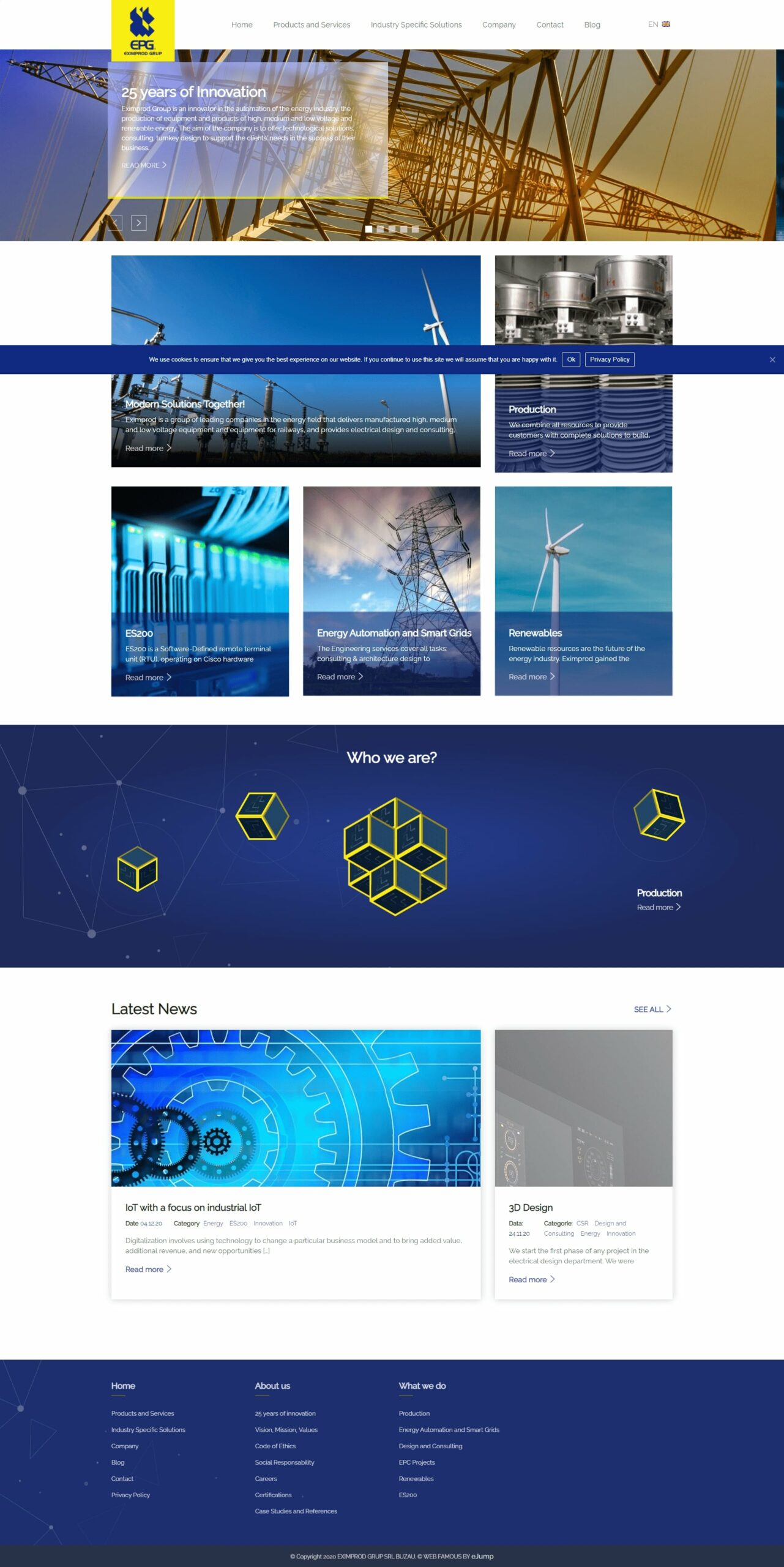 New website redesign and WordPress implementation for an energy industry company